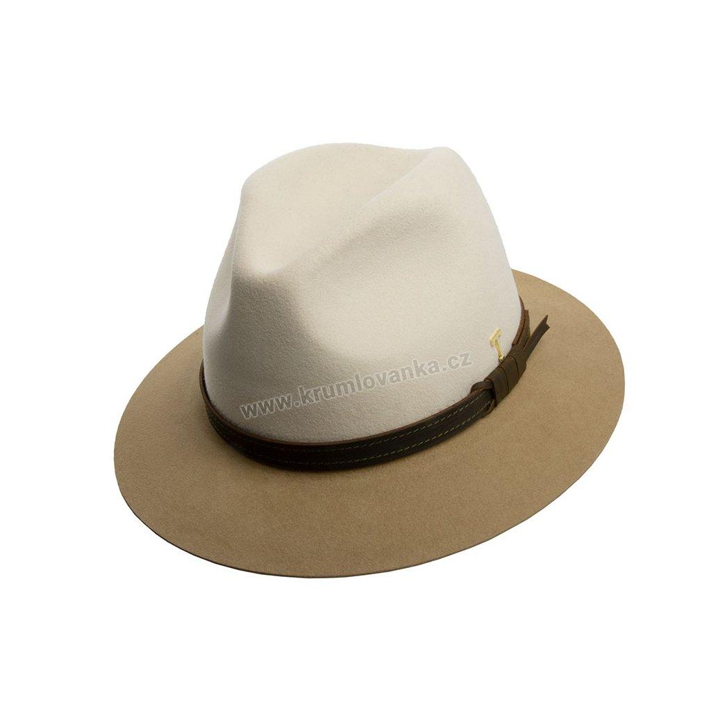 Plstěný klobouk TONAK Fedora Uomo Duo 12730/18 béžový Q 7030