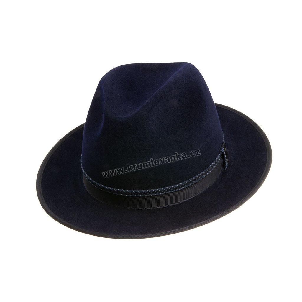 Plstěný klobouk TONAK Fedora Uomo Profilo 12791/18 tmavě modrý Q 3333