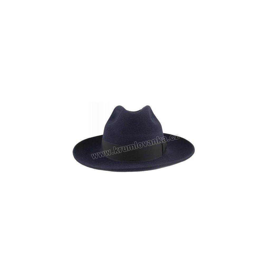 Plstěný klobouk TONAK Fedora Florence 21103/15 modrý Q 3050