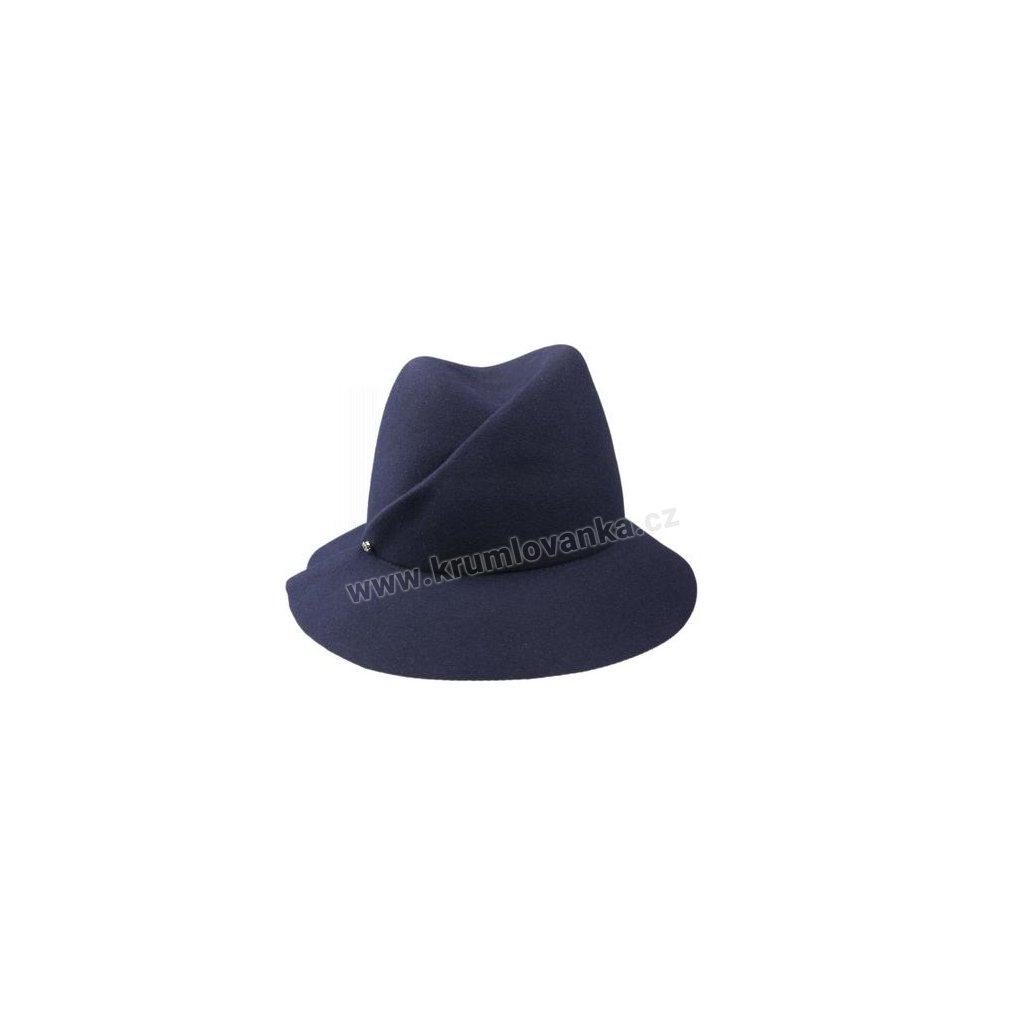 Plstěný klobouk TONAK Fedora Latrán Mini 53135/16 tmavě modrý Q 3050