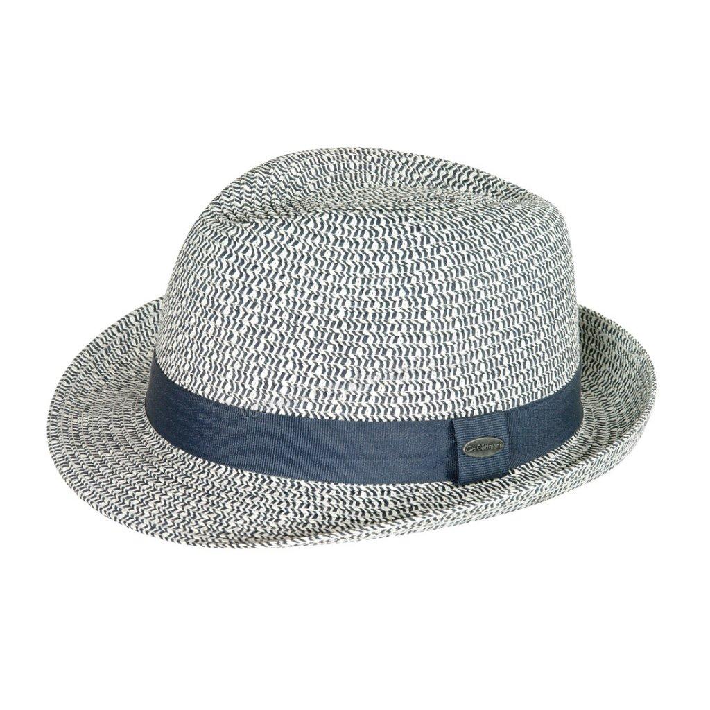 Pánský letní klobouk s textilním páskem  GT modrý