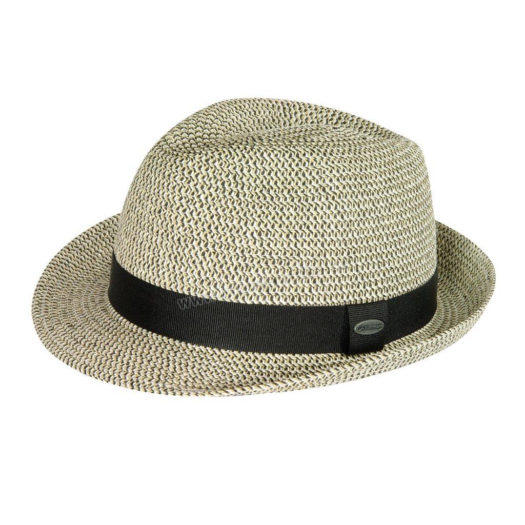 Pánský letní klobouk s textilním páskem GT šedobéžový1