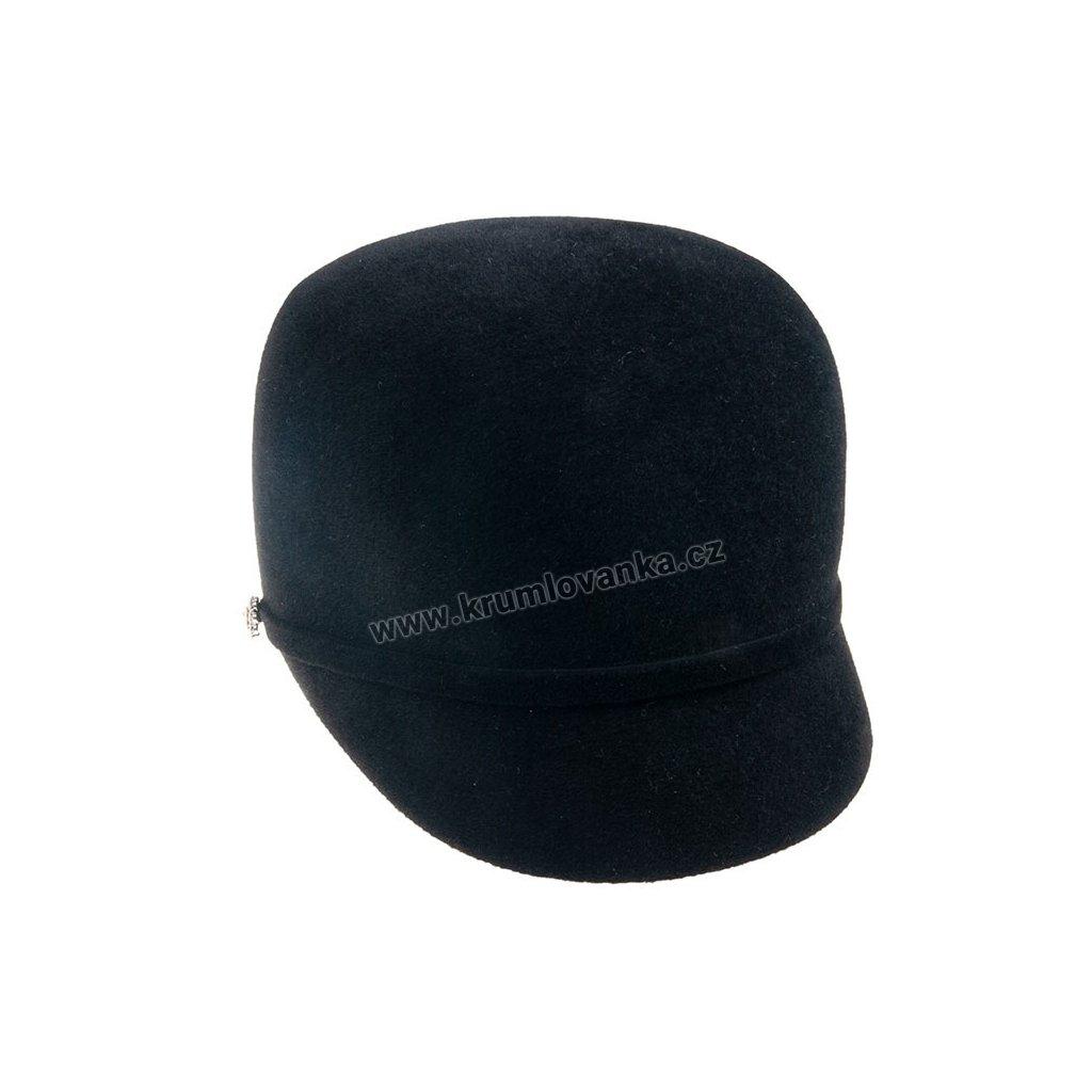 Plstěná čepice TONAK 53406/17 černá Q9030