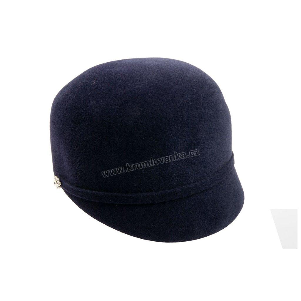 Plstěná čepice TONAK 53406/17 tmavě modrá Q 3050