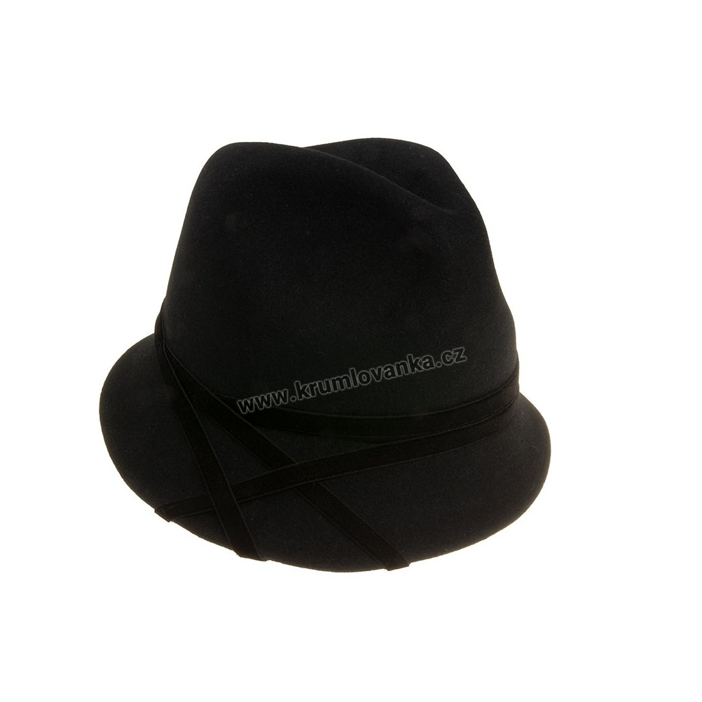Plstěný klobouk TONAK Cloche Essence Chic 53500/18 černý Q 9040