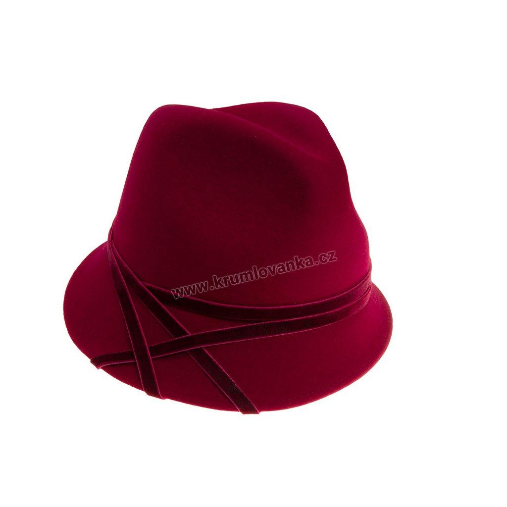 Plstěný klobouk TONAK Cloche Essence Chic 53500/18 bordový  Q 1266