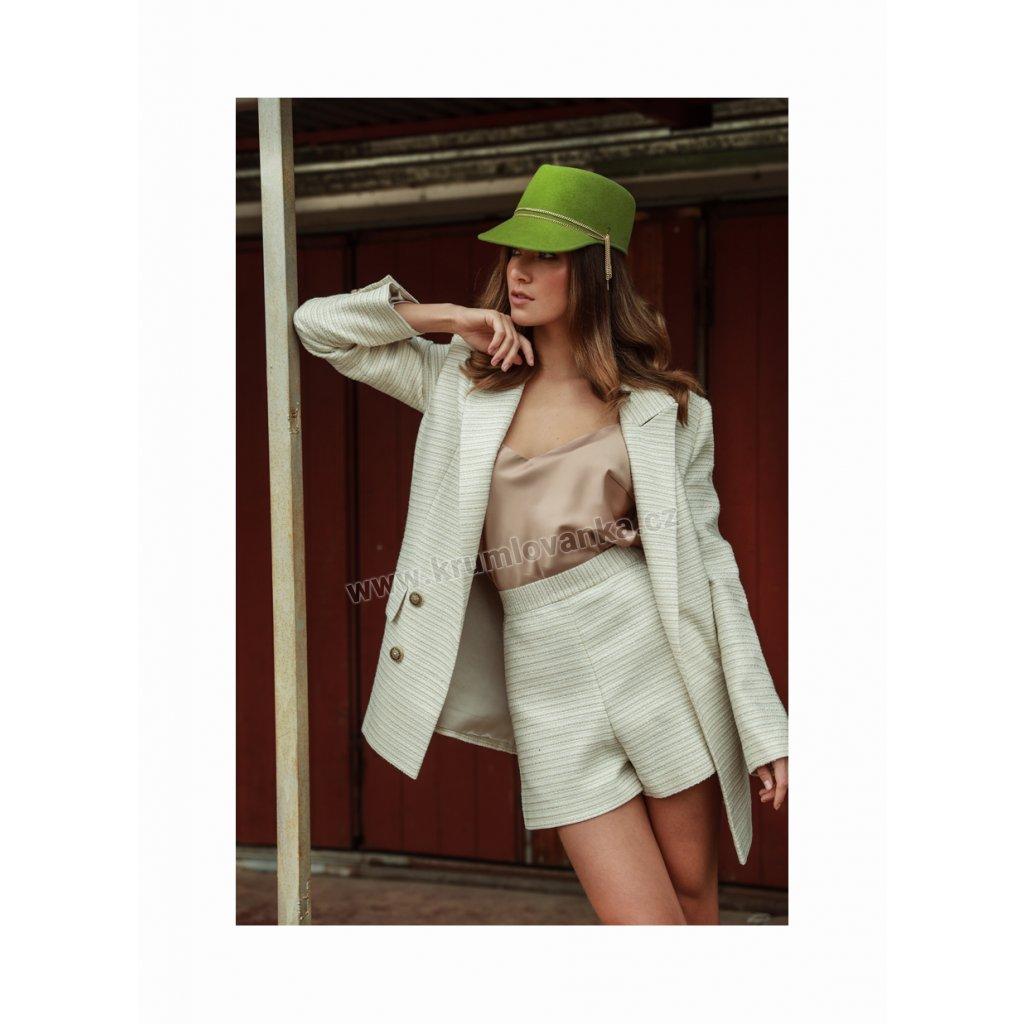 Plstěný klobouk TONAK Visor Hat Melody 53671/19 zelený Q 4165
