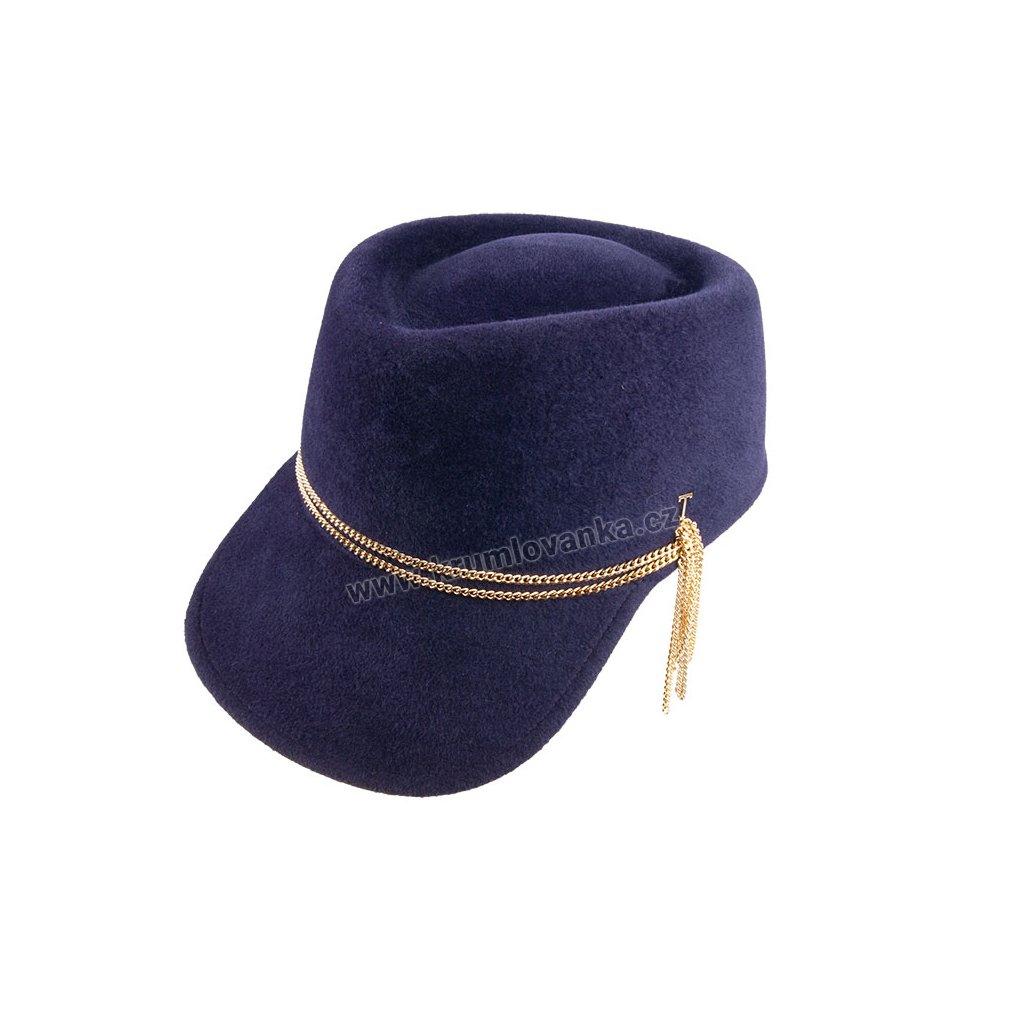 Plstěný klobouk TONAK Visor Hat Melody 53671/19 modrý Q 3024