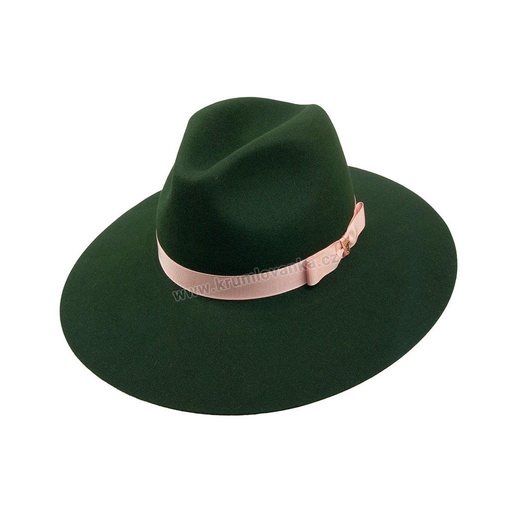 Plstěný klobouk TONAK Fedora Stretti Lady 53394/17 zelený Q 4239