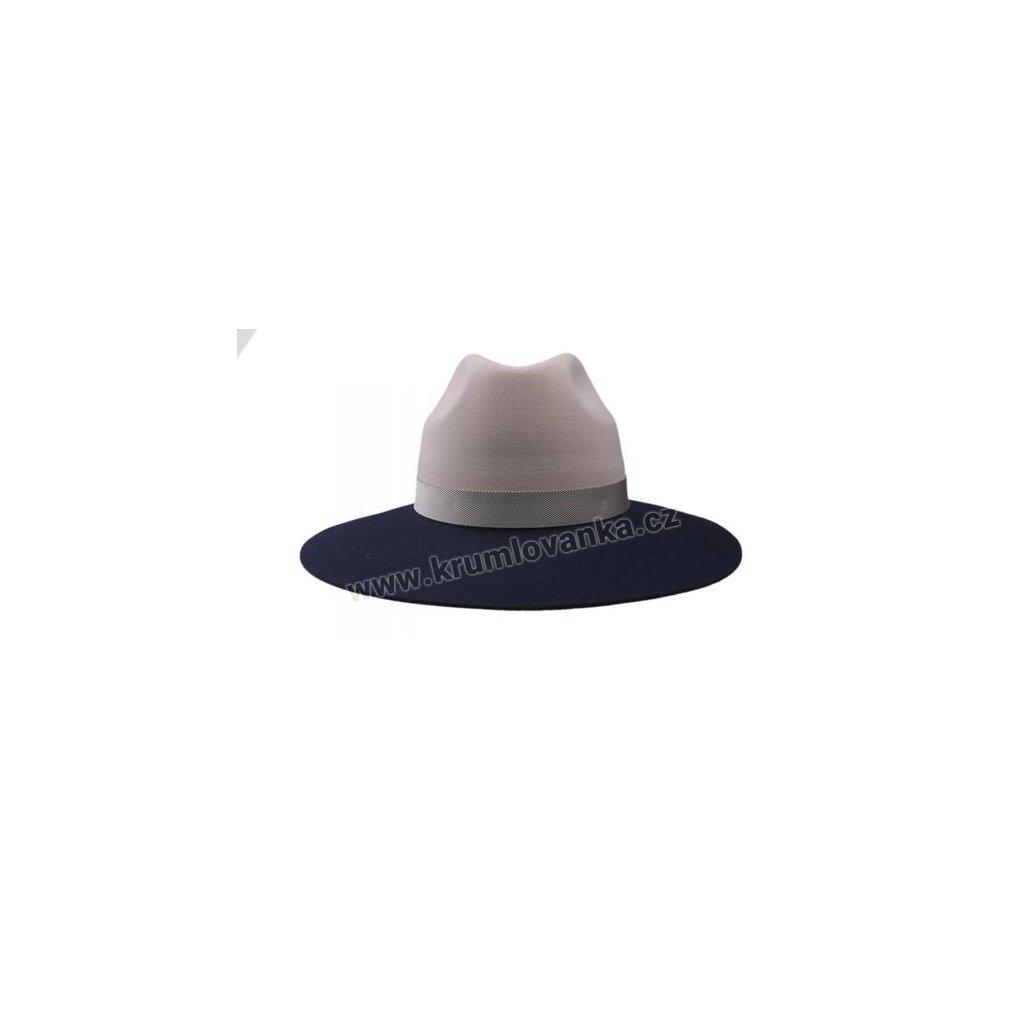 Plstěný klobouk TONAK Fedora Laterna Coctail 53129/16 růžový Q 1257