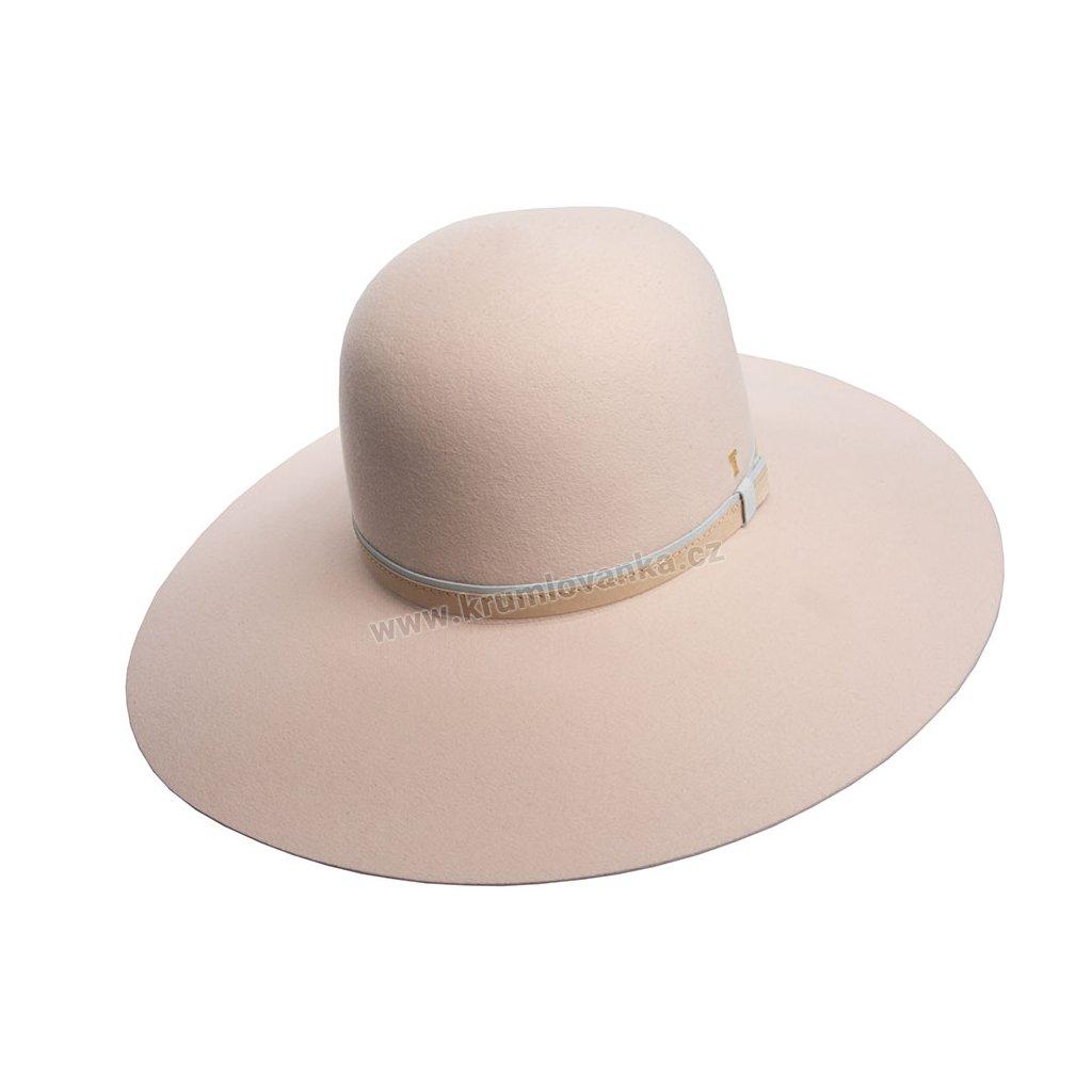Plstěný klobouk TONAK Brim Hat Essence Cuir 53502/18 béžový Q 7010