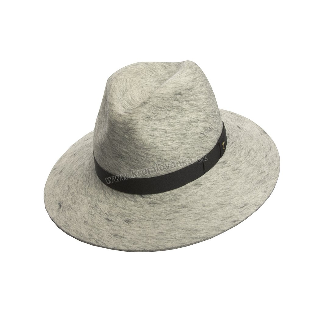 Plstěný klobouk TONAK Fedora Esprite 12778/18 bilý Q 7009