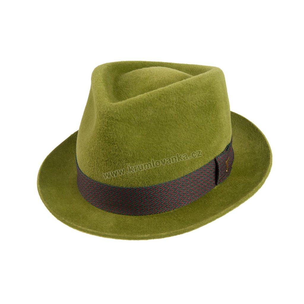 Plstěný klobouk TONAK Fedora Benny 12924/19 světle zelený 4165