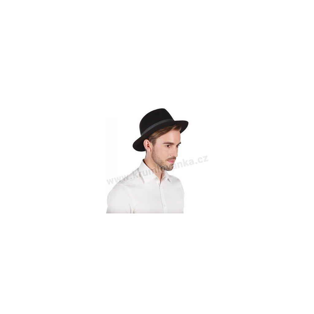 Pánský plstěný klobouk TONAK Fedora Hückel 12242/16 černý Q 9030
