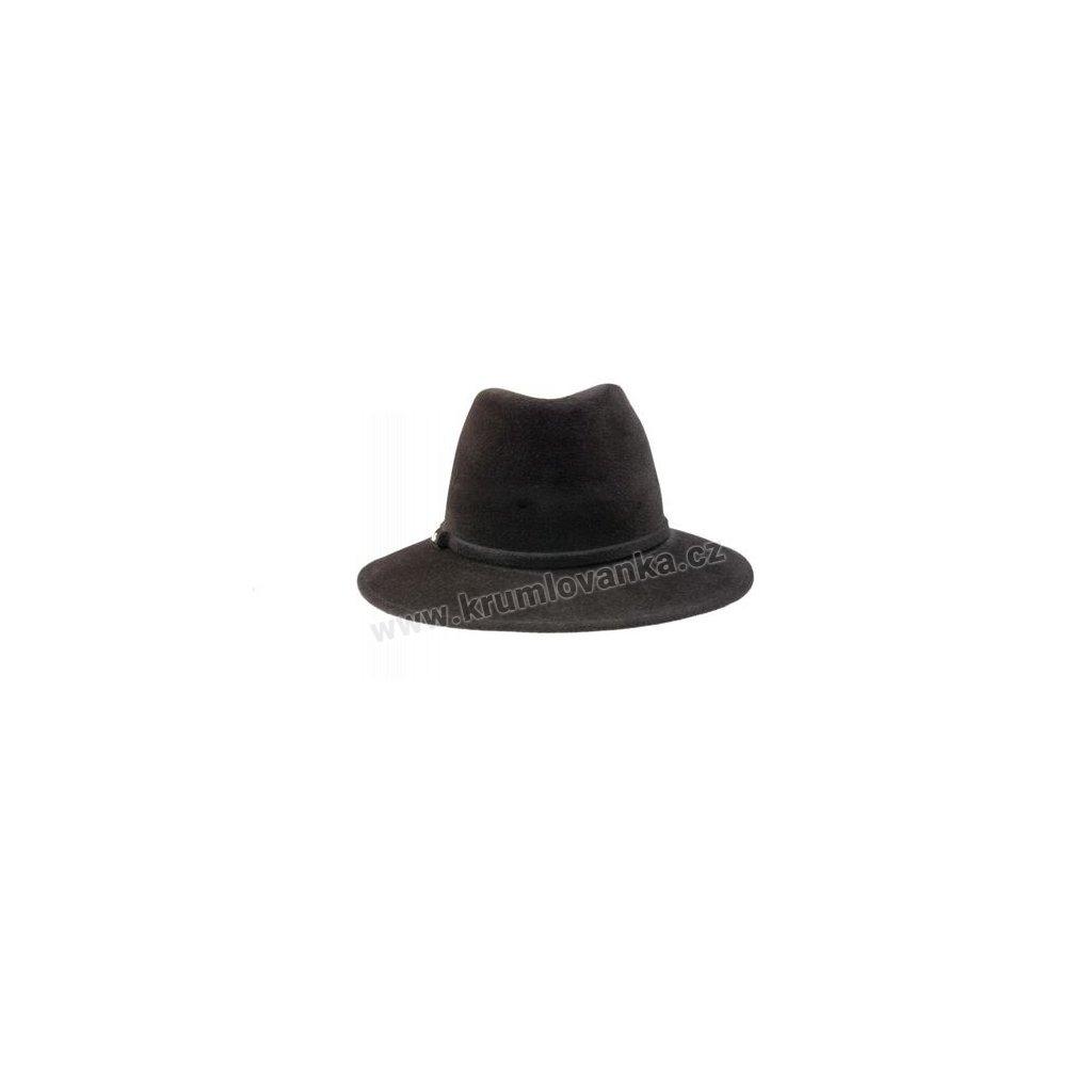 Plstěný klobouk TONAK Fedora Latrán 53148/16 tmavě hnědý Q 6062