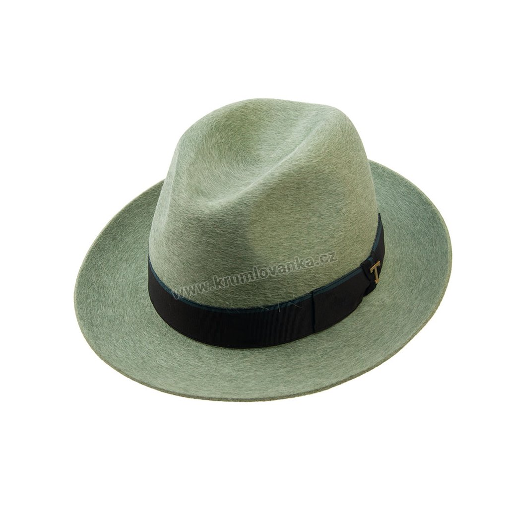 Plstěný klobouk TONAK Fedora Stretti Pastel 12513/17 světle zelený 1542