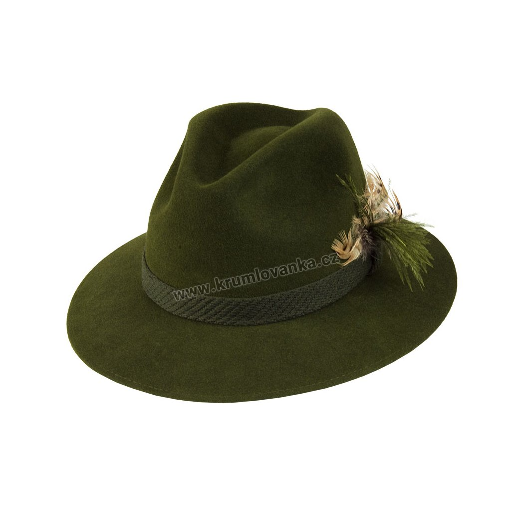 Plstěný myslivecký klobouk TONAK 101630 zelený P 0250