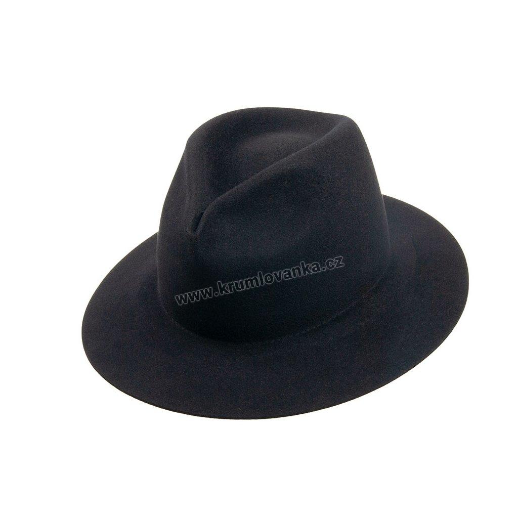 Plstěný klobouk TONAK 1507/13 černý Q 9030