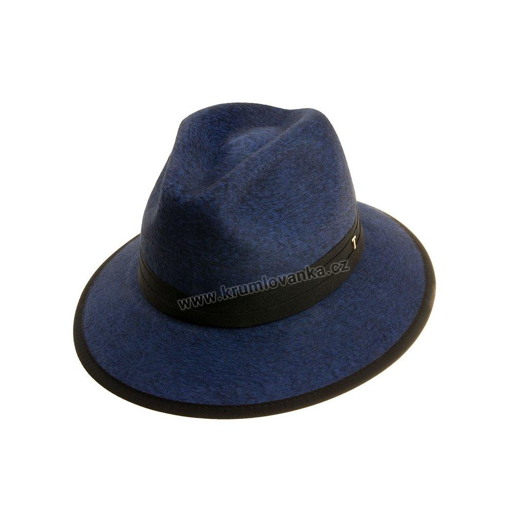 Plstěný klobouk TONAK Fedora Essence Sky 53532/18 modrý  Q 3104