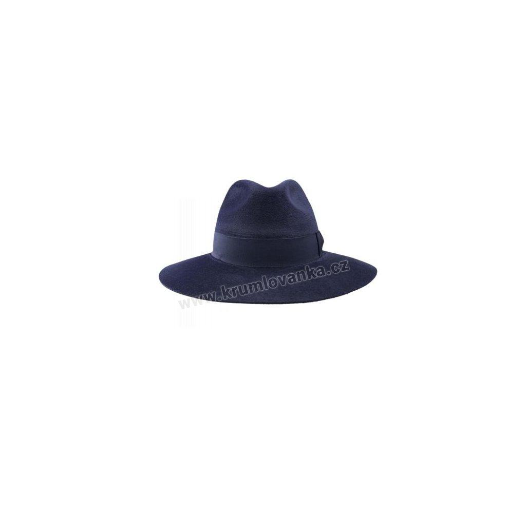Plstěný klobouk TONAK Fedora Laterna 53130/16 tmavě modrý Q3050