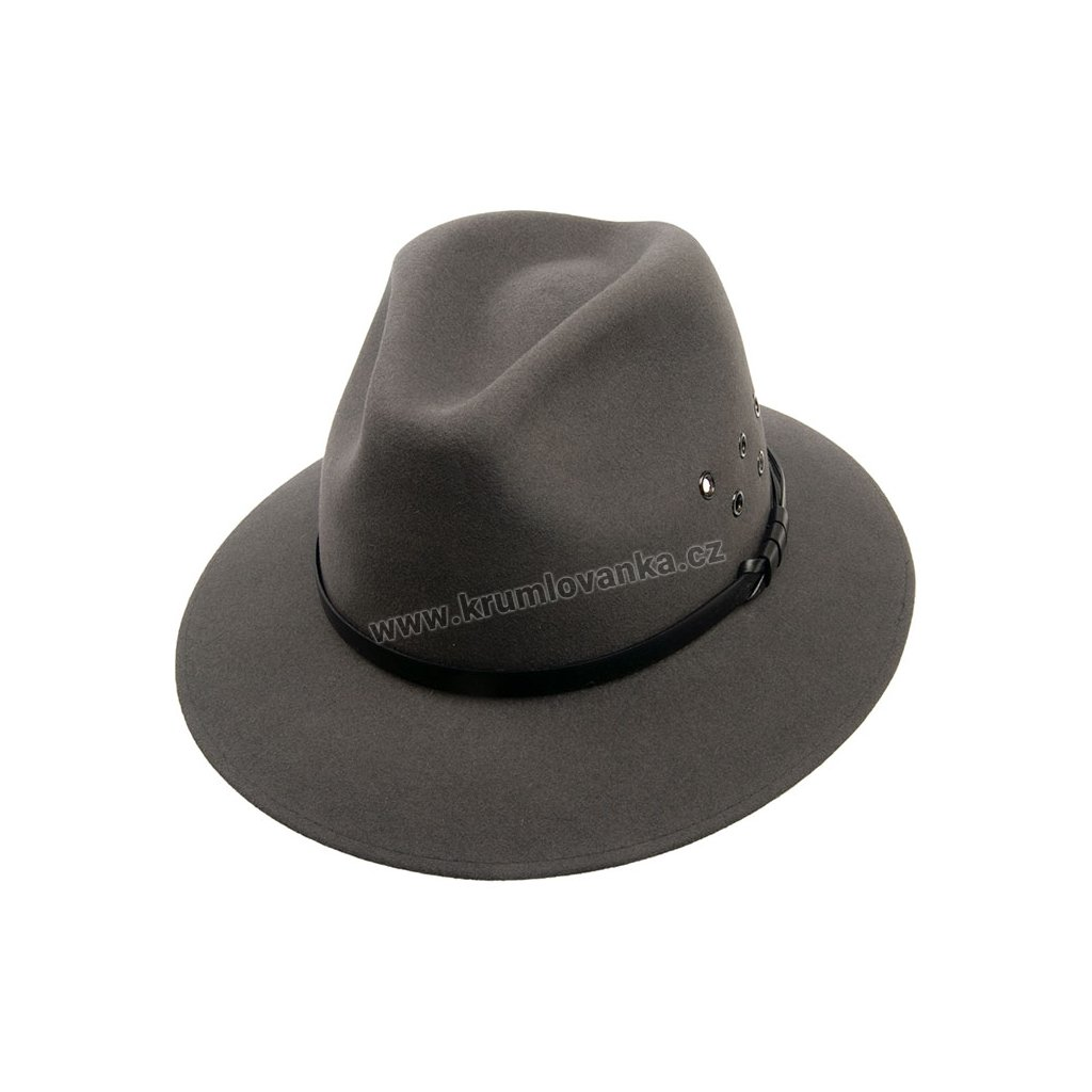 Pánský plstěný klobouk TONAK 11925/15  šedý Q 8045