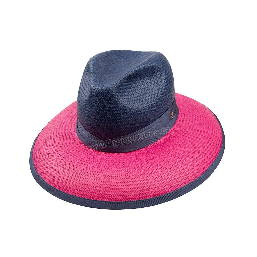 Letní klobouk TONAK Fedora Brigite 35030 modrý