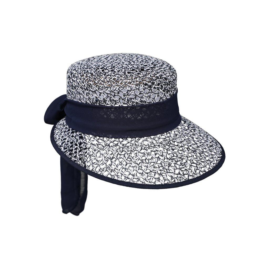 Dámská letní čepice - kšilt z kloboukové celuózy 69837 modrý