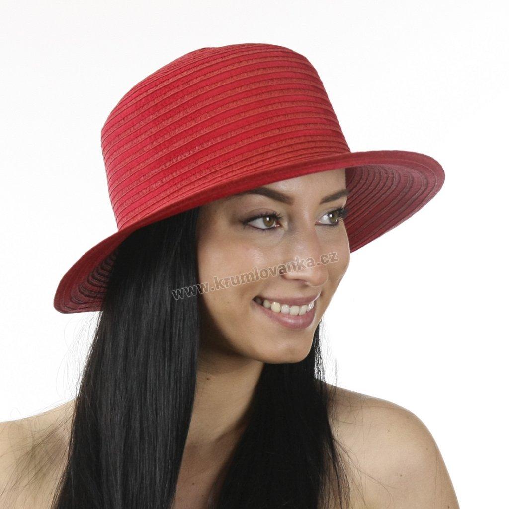 Letní dámský klobouk 69864 červený