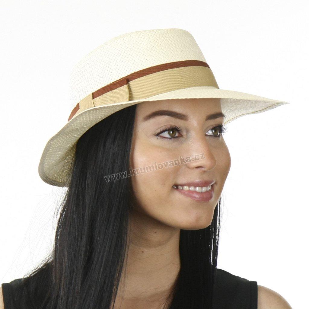 Letní dámský klobouk z kloboukové celuózy 69838 natural
