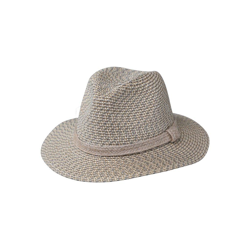 Letní klobouk Fedora s jutovým páskem 69851 zelený