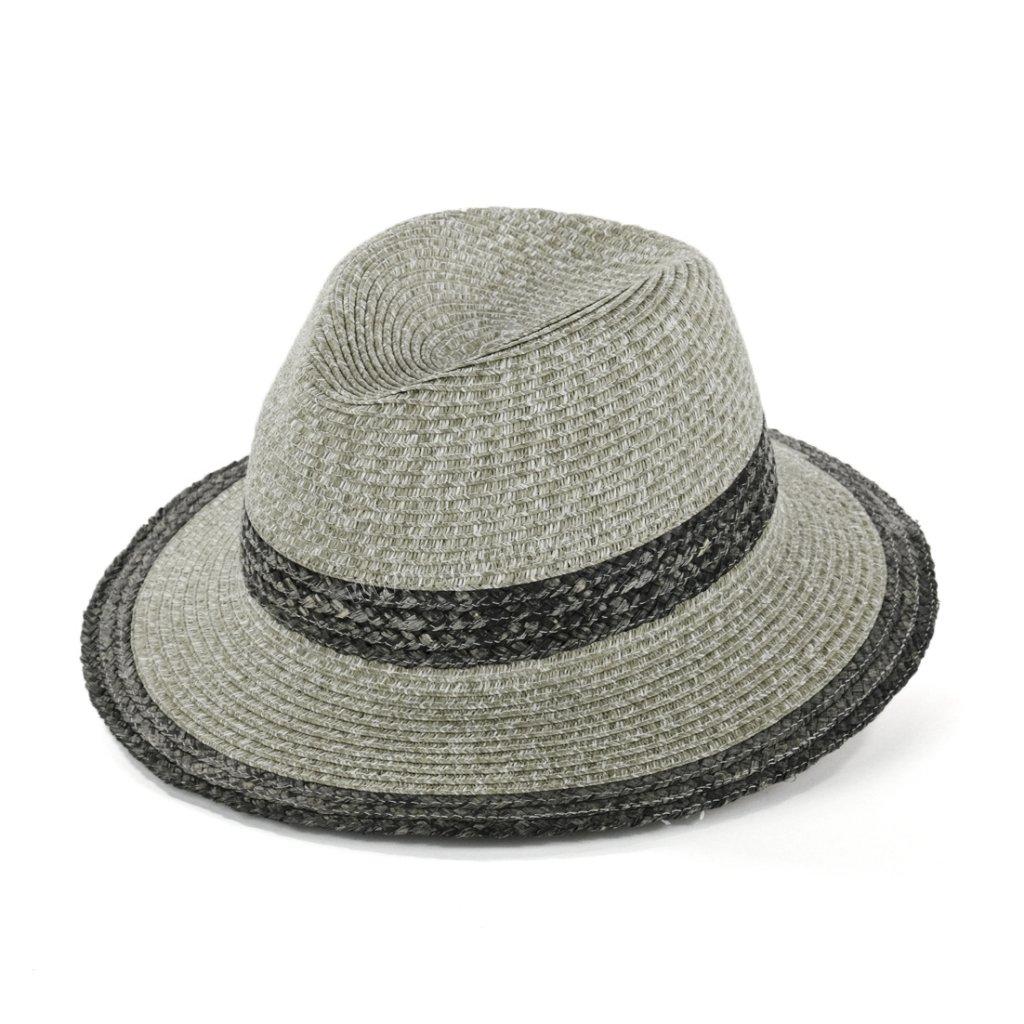 Letní klobouk Fedora 69844 šedý