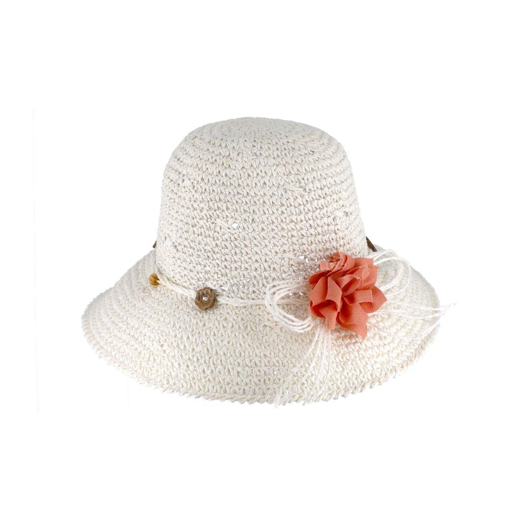 Letní klobouk Fiebig pletený 69830 bílý