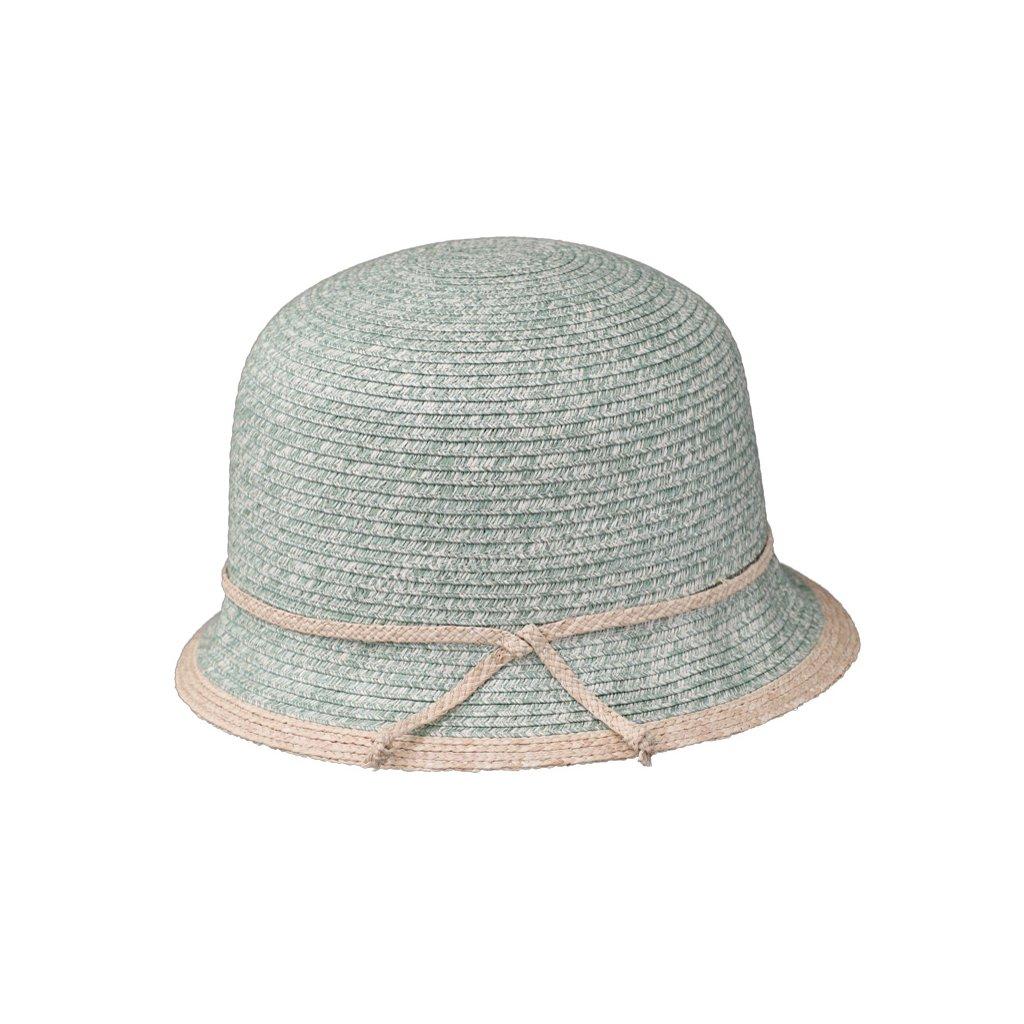 Dámský letní klobouk Fiebig Cloche zelený