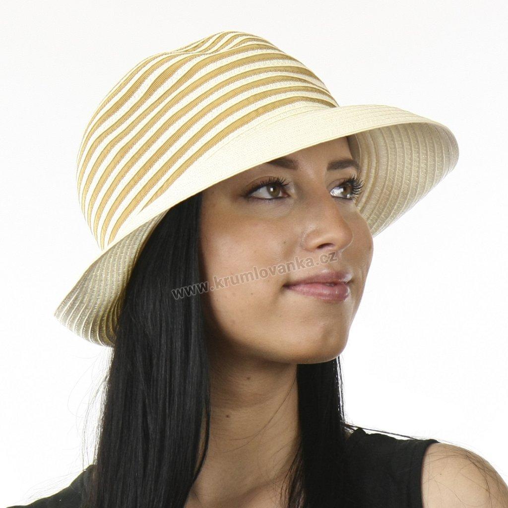 Dámský letní klobouk proužky 69865 Fiebig 11x