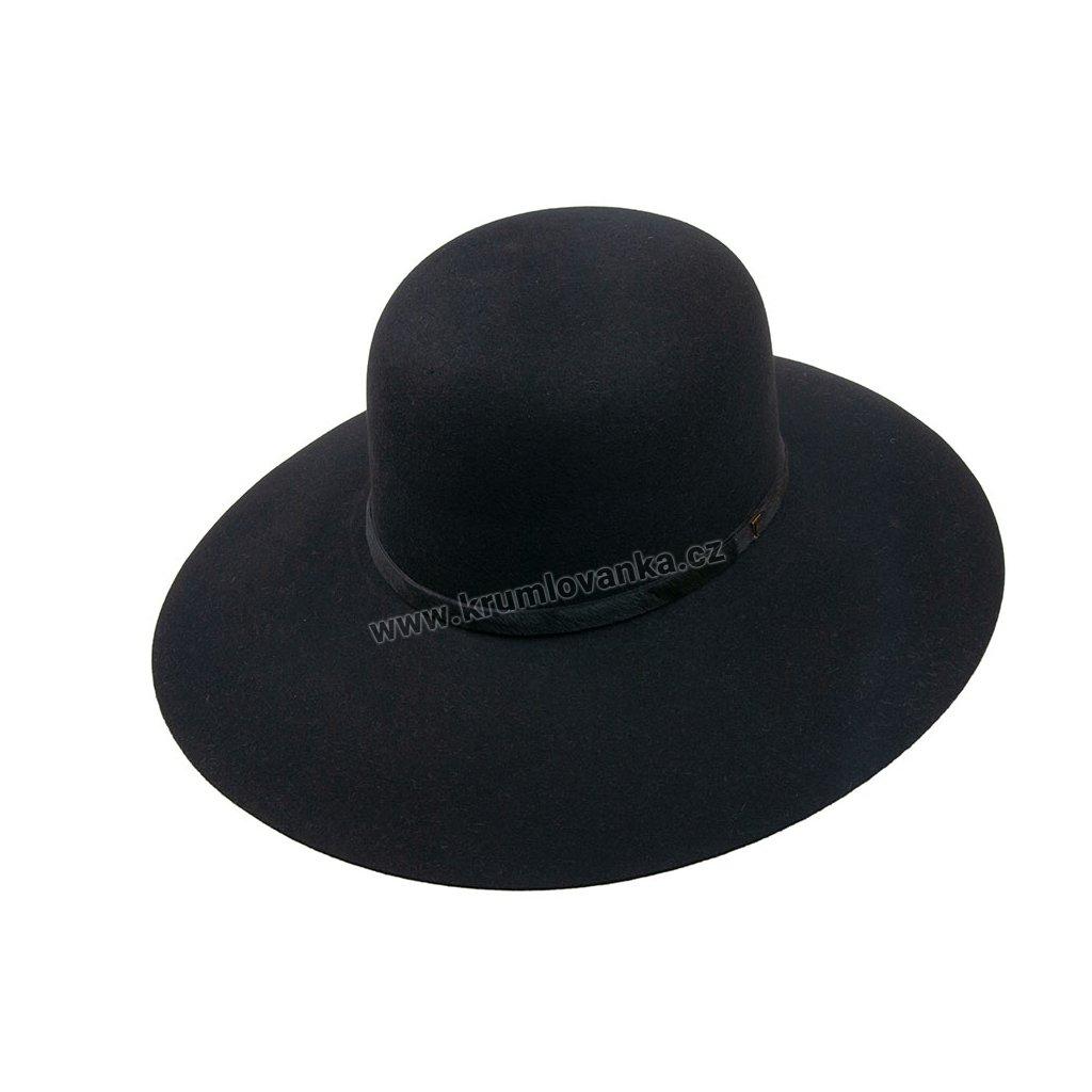 Plstěný klobouk TONAK Brim Hat Flor 53358/17 černý Q9030