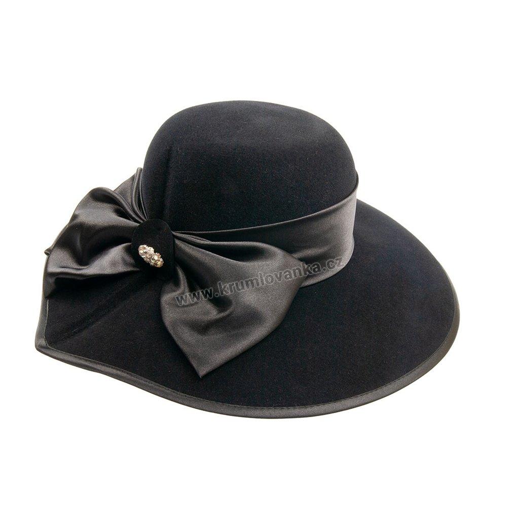 Plstěný klobouk TONAK 53408/17 černý Q 9030