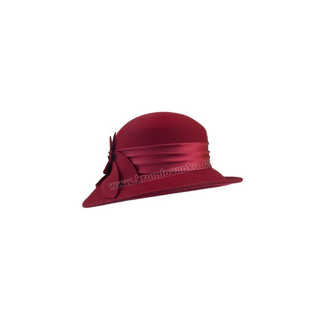 Dámský plstěný klobouk TONAK 50122/03 tmavě červený Q 1140