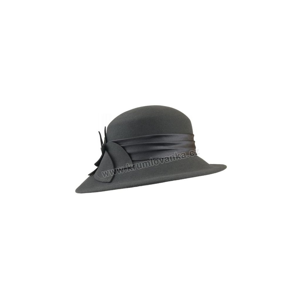 Dámský plstěný klobouk TONAK 50122/03 tmavě šedý Q 8059
