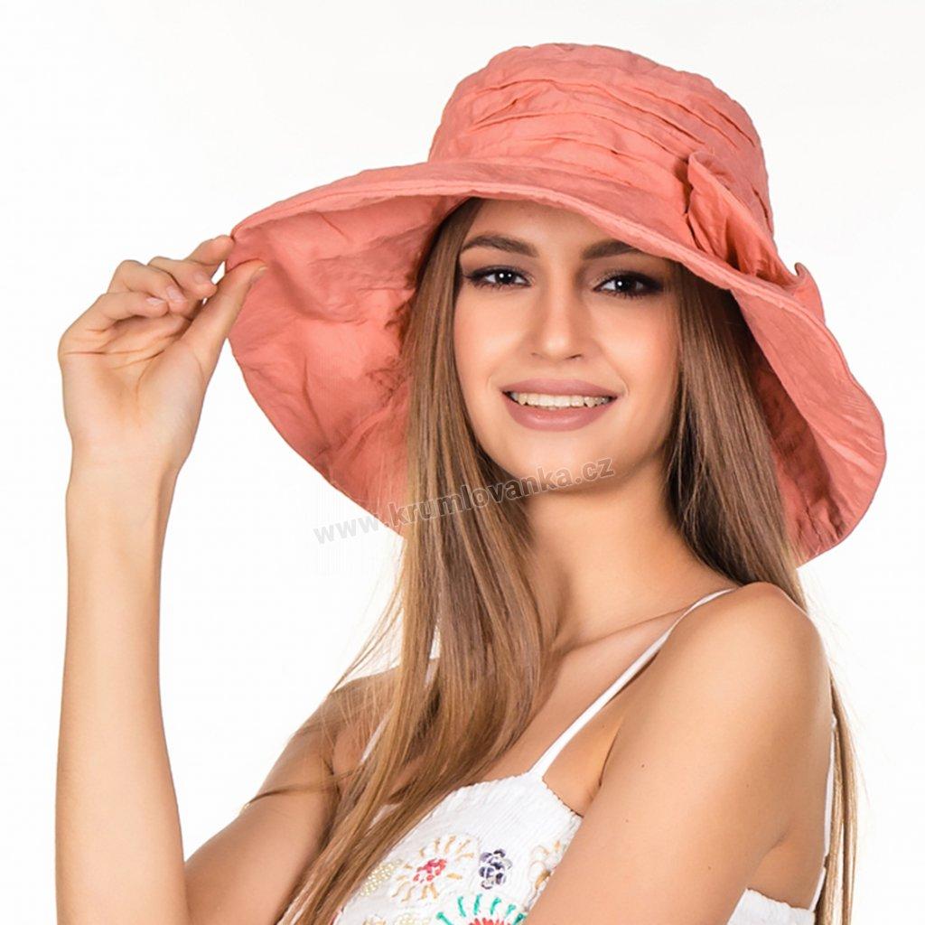 Dámský letní klobouk Krumlovanka 427003 korálově červený