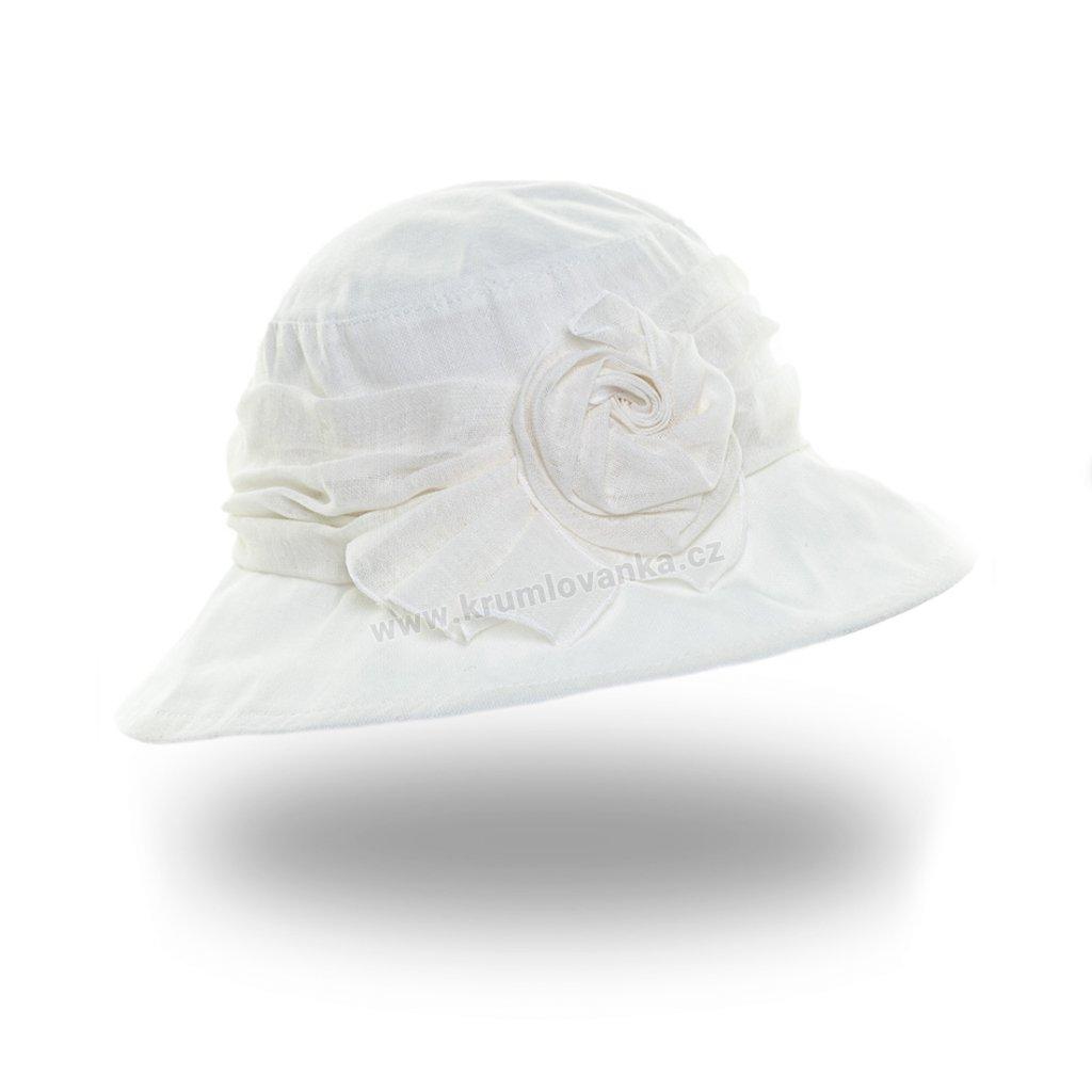 Dámský letní klobouk Krumlovanka 381081 bílý
