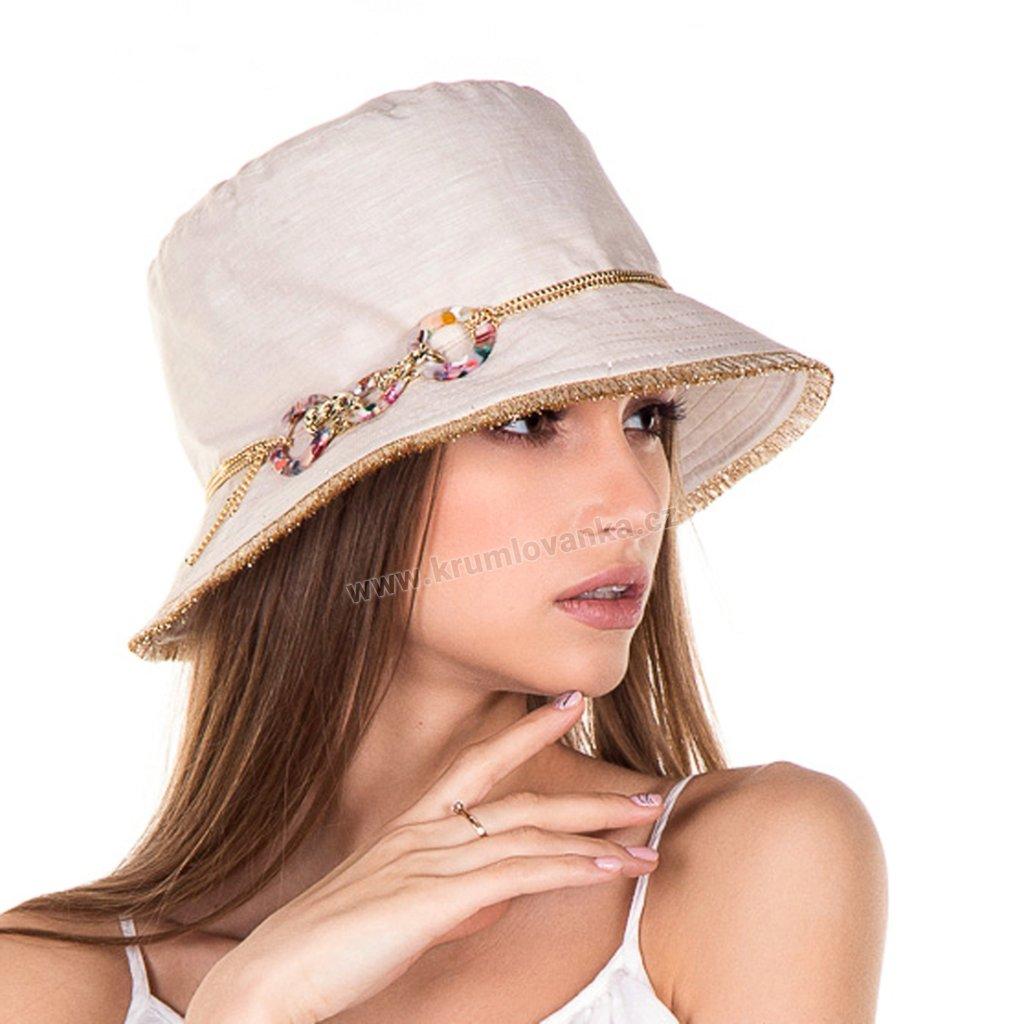 Letní dámský klobouk Krumlovanka 435243 béžový