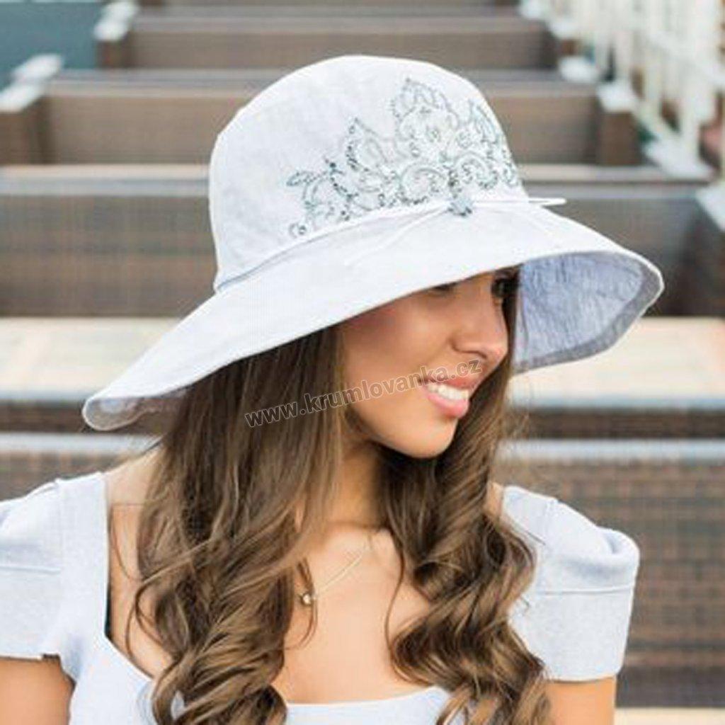 Dámský letní klobouk Krumlovanka 403590 světle šedý