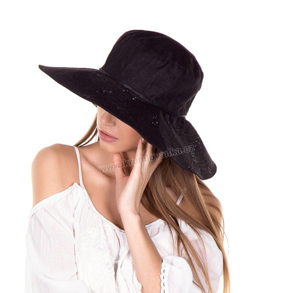 Dámský letní klobouk Krumlovanka 435265 černý