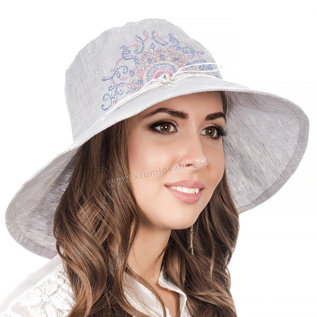 Dámský letní klobouk Krumlovanka 403210 světle šedý