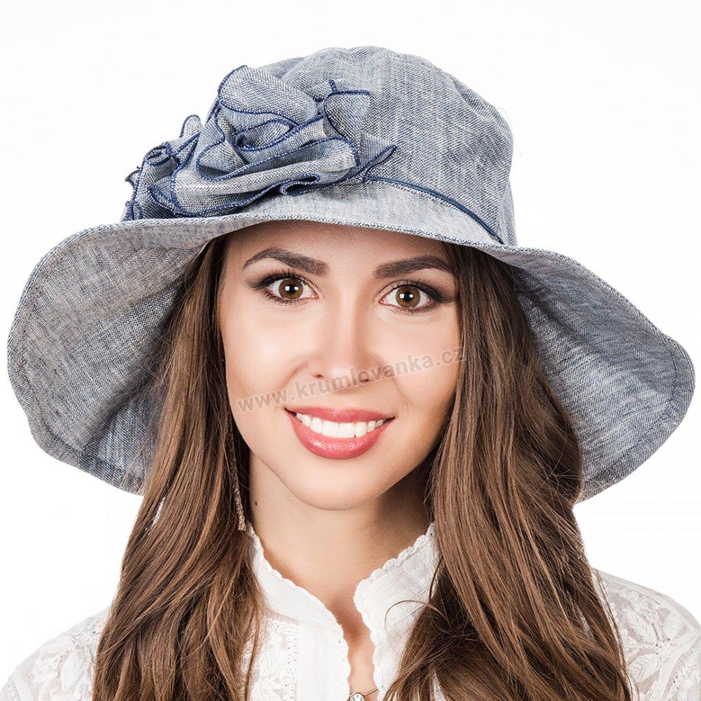 Dámský letní klobouk Krumlovanka 403260 světle modrý