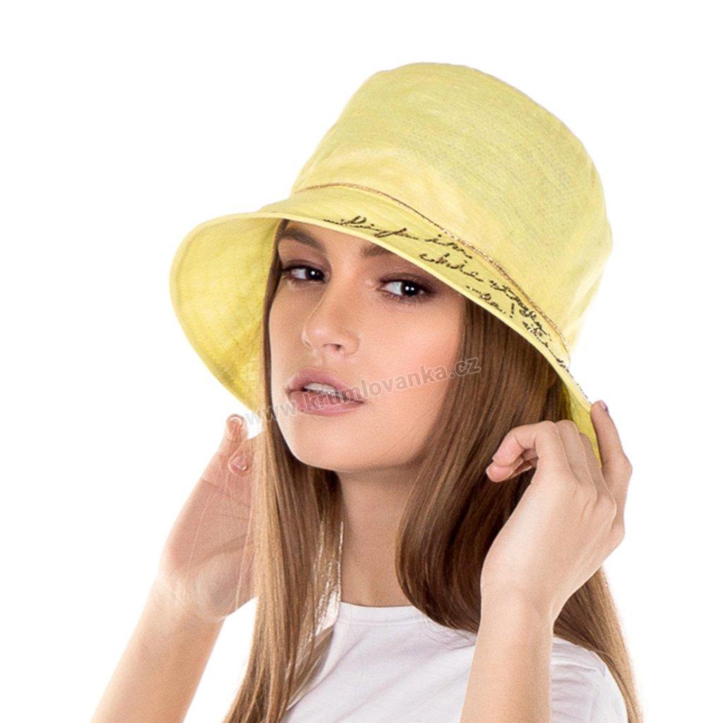 Dámský letní klobouk Krumlovanka 435046 žlutý