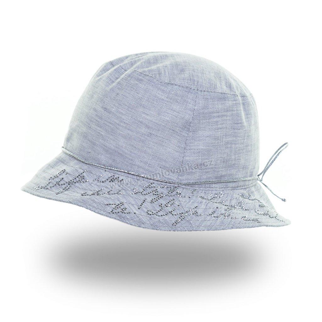 Dámský letní klobouk Krumlovanka 435347 světle šedý
