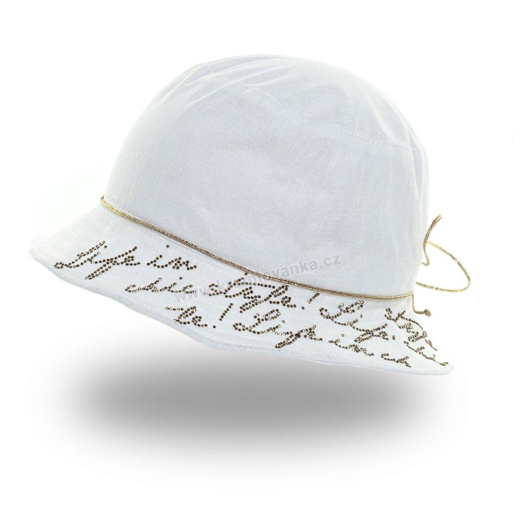 Dámský letní klobouk Krumlovanka 435344 bílý