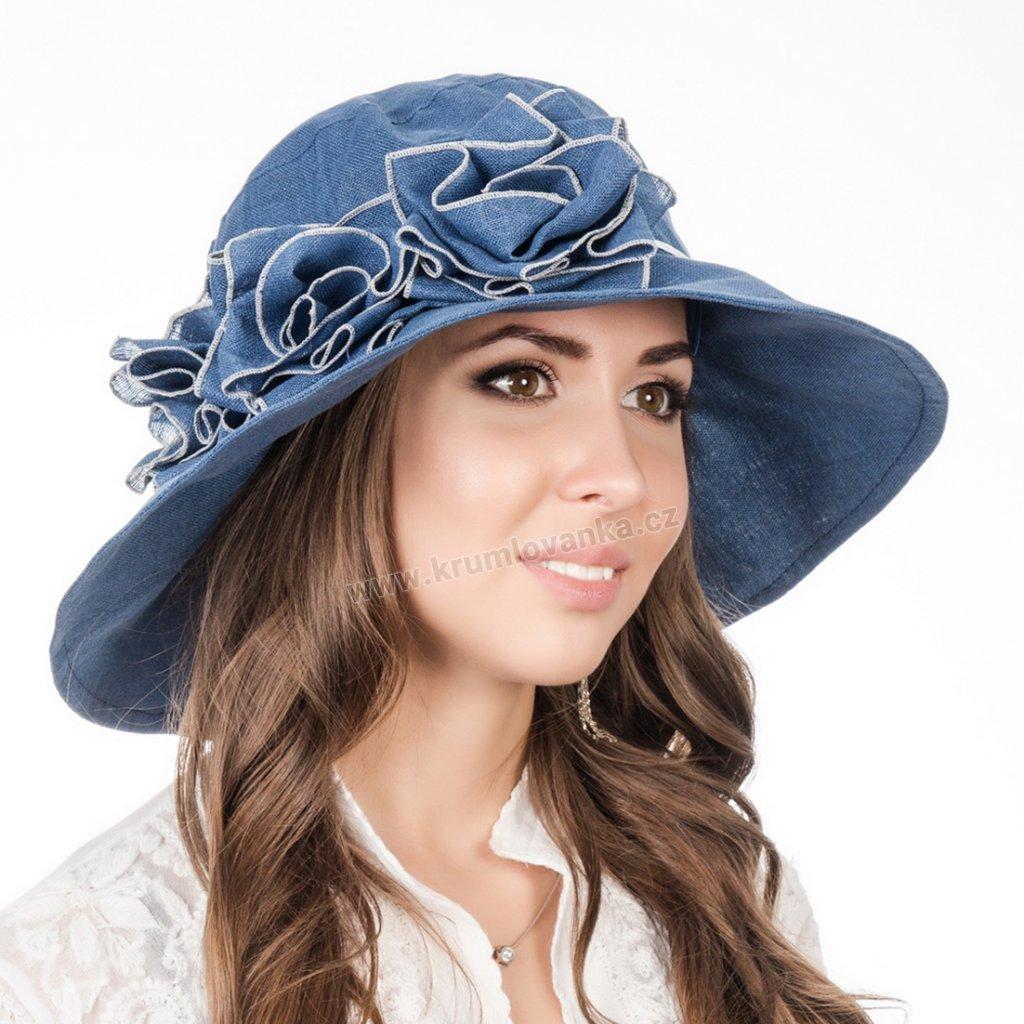 Dámský letni klobouk Krumlovanka 403270 modrý
