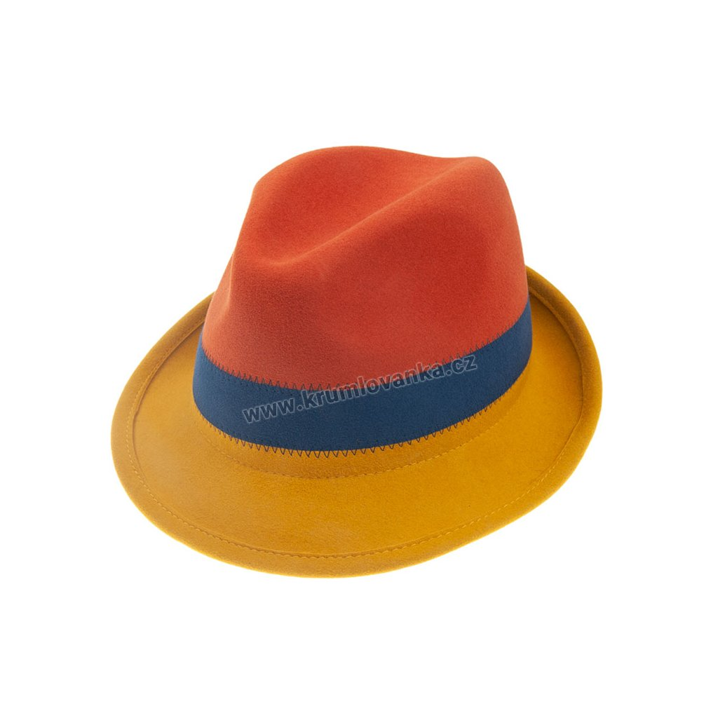 Plstěný klobouk TONAK 11510/13  červený Q0113